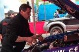 Alan McGeehan with Tim McNulty's car  - Kilarney Rally of the Lakes 2010
