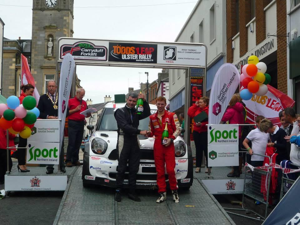 Derek McGeehan and Darragh Mullen win the 2013 Ulster National Rally
