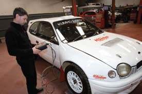 Derek McGeehan in the garage