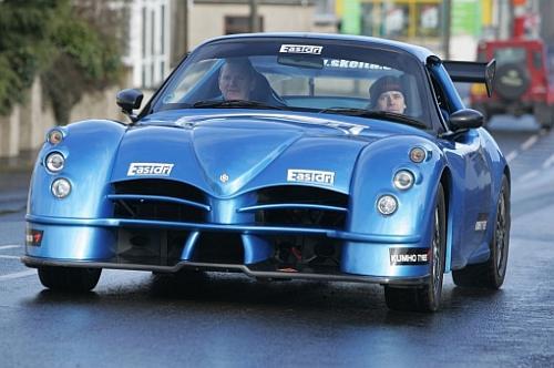 Eugene Donnelly & Derek McGeehan testing new car